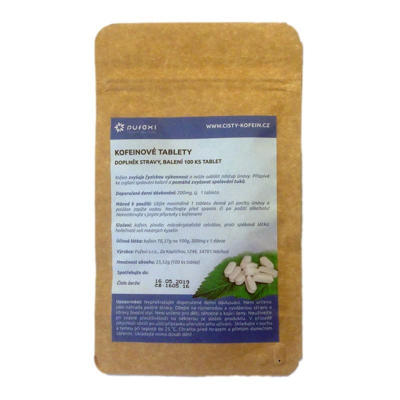 100ks Kofein 200mg tablety ( STIMULANT 5f6560b7ee